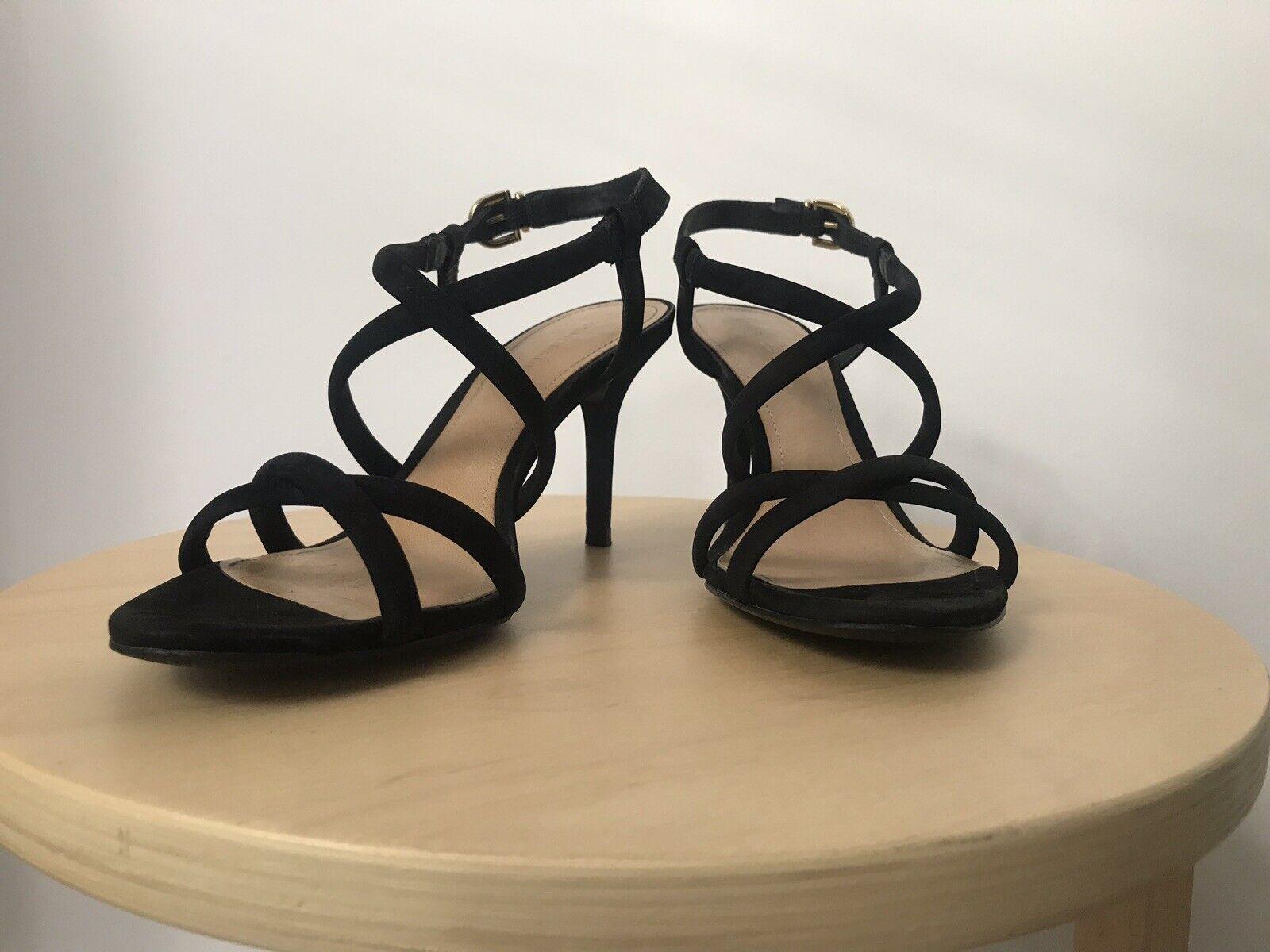 Sandaletten High Heels COSMOPARIS Schuhe Gr. 37 Schwarz Wildleder WIE NEU