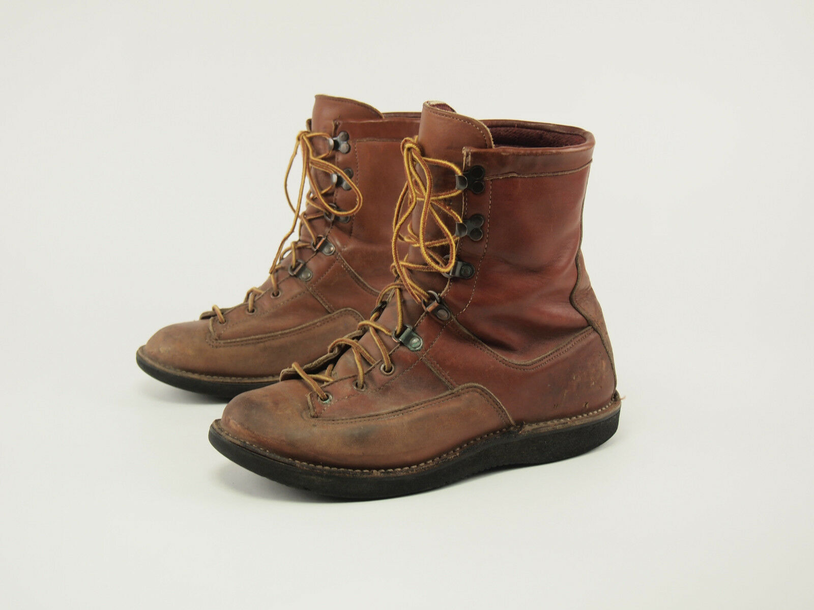 1980s DANNER Vintage 6032 Leather GTX Lace-to-toe Hunting Boots 7.5