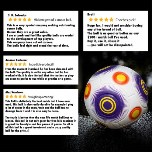 Knuckle-It Pro Soccer Ball Size 5 Official Match Balls