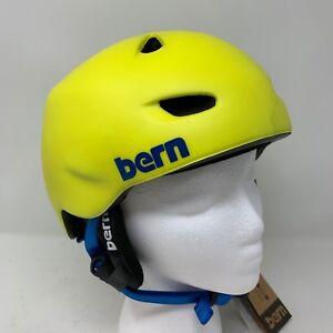 ea0acaed2f7a Bern Brentwood Matte Neon Yellow Snowboard Helmet L XL (cm) Zip Mold ...