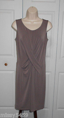 SIMPLY VERA VERA WANG Women's Brown Crossover Front Sleeveless Dress Size S