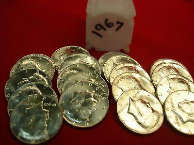 1965 1966 1967 P /& 1968 1969 D  Kennedy Half Dollar CH BU Set 40/% Silver 5 Coins