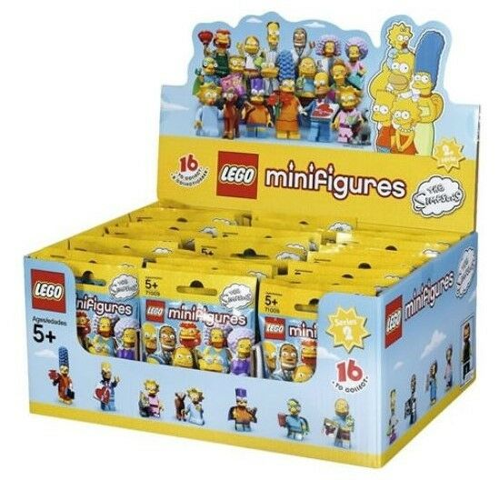 Lego 71009 Mininfigure The Simpsons Series 2, Sealed Box(60 Minifigures) Minifigures) Minifigures) NEW 43993f