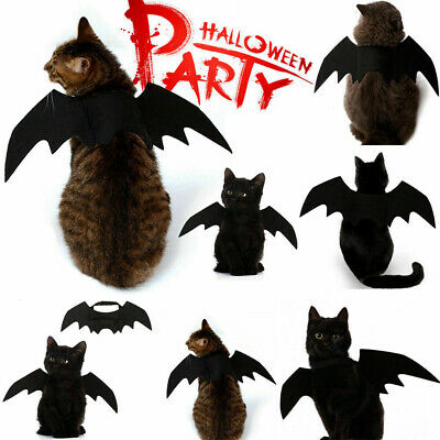 Cosplay Dog Cat Funny Clothes Puppy Black Bat Wings