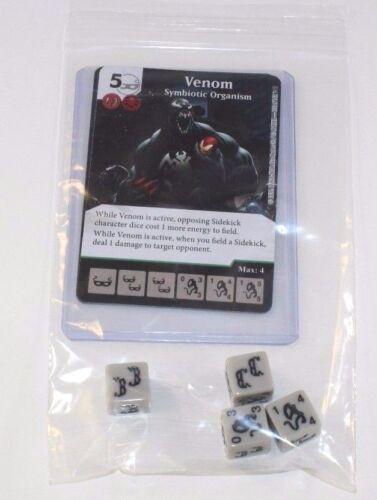 VENOM CU Set Uncommon 4 Dice Common Marvel Dice Masters Civil War