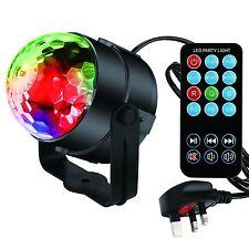 Light Stage Strobe Dj Lights Mini Magic Mirror Rotating Flash Glitter Ball Remot