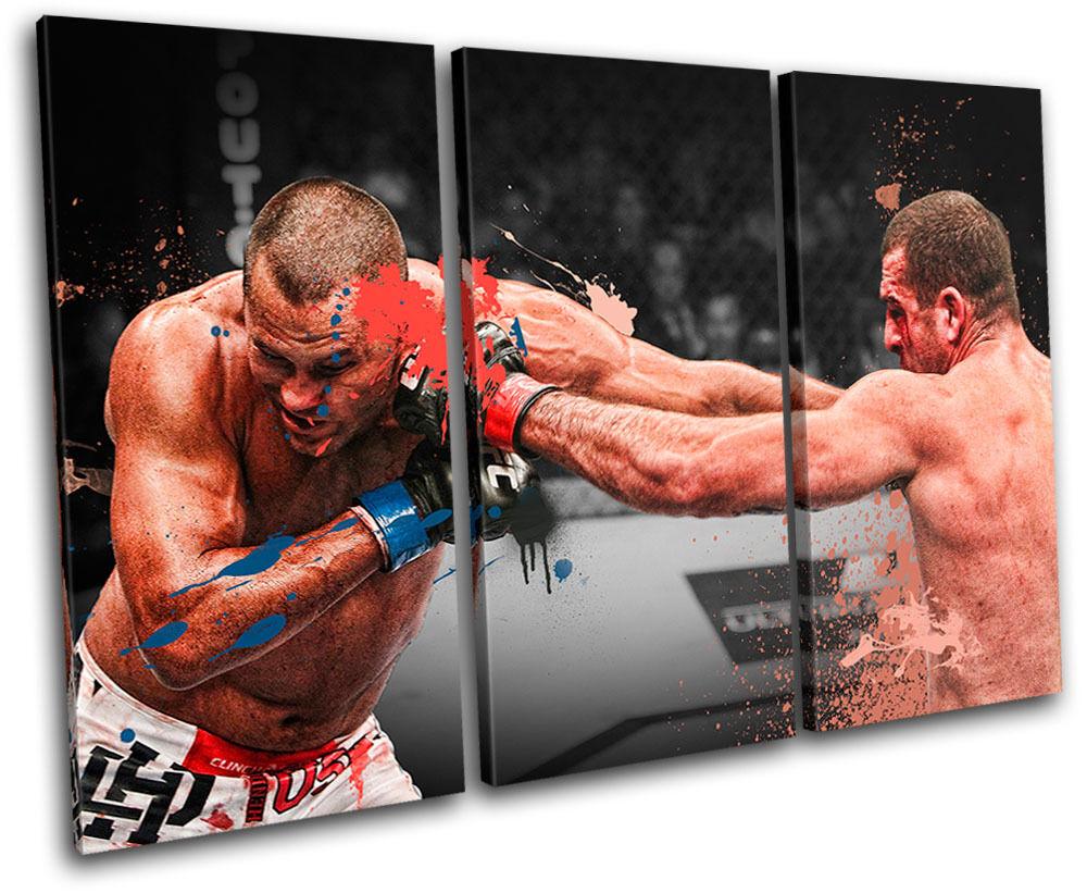MMA Mauricio Shogun Rua    Sports TREBLE TELA parete arte foto stampa 318672