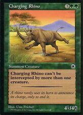 Charging Rhino   NM   Portal   Magic MTG
