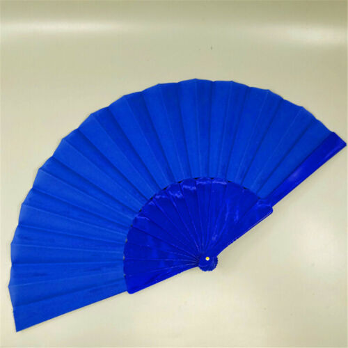 1PC Chinese Style Plastic Fabric Fold Hand Held Fan Dance Party Wedding Gifts NP