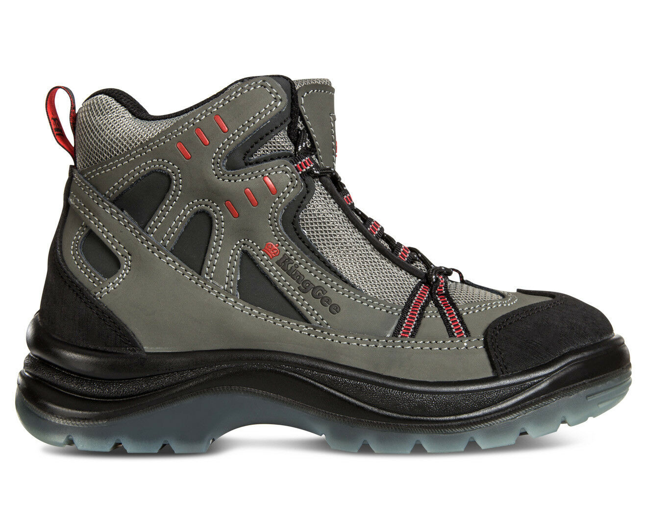 KINGGEE BOOT Uomo NULLARBOR HIKER SAFETY BOOT KINGGEE - GREY -UK Uomo 10 cd1165