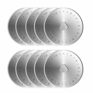 10pcs Rotary Sharp Cutter Refill Blades Sewing Quilting For Olfa Fiskars