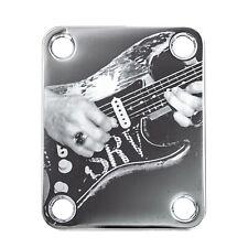 #2049 Standard 4 Bolt GOLD Engraved Guitar//Bass Neck Joint Heel//Back Plate
