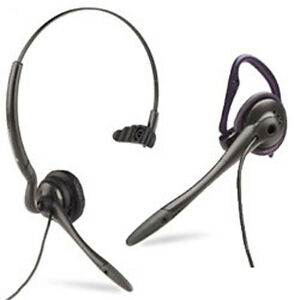 NEW PLANTRONICS HS34 UNIVERSAL HANDS FREE HEADSET 2.5MM OVER THE HEAD OR EAR
