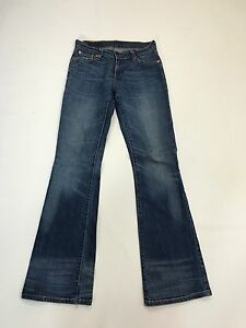 Damen-Levi-529-034-Bootcut-034-Jeans-W27-L34-Navy-Wash-super-Zustand