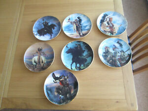 AMERICAN-INDIAN-CHIEF-COLLECTORS-PLATES-MAKE-YOUR-SELECTION
