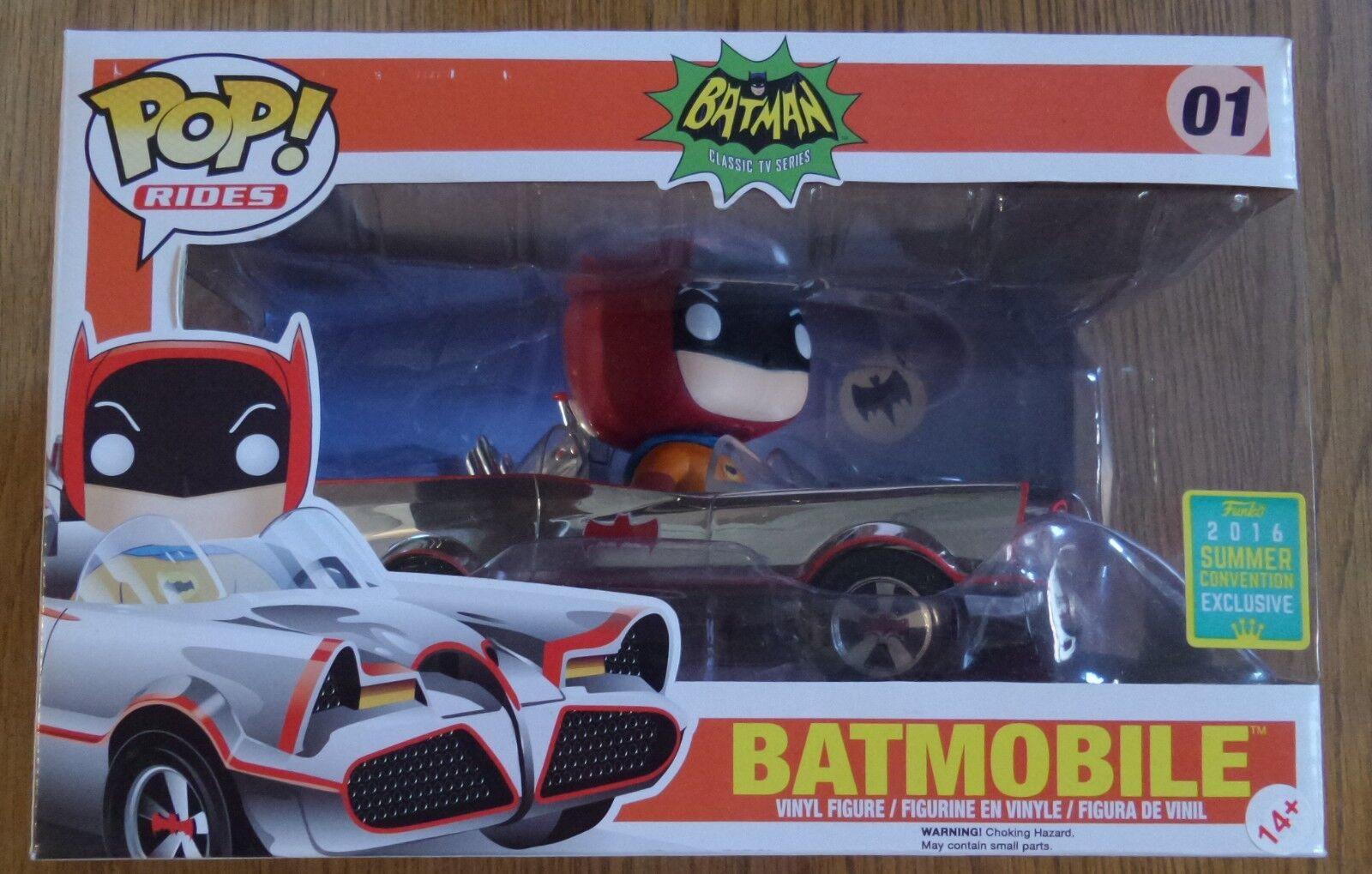 Funko Pop Rides Batman Chrome Batmobile 01 SDCC 2016 Summer Convention Exclusive