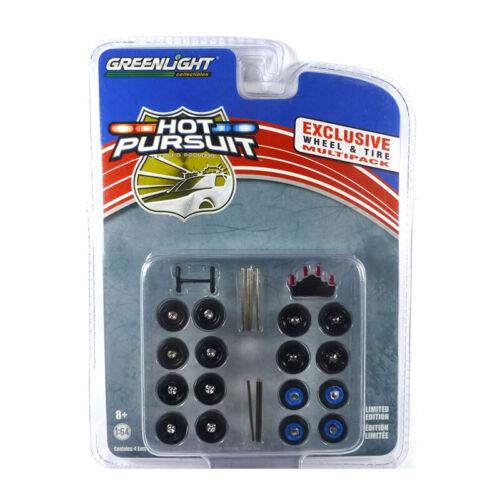 "Exclusive Wheel /& Tires Pack NEU!° Greenlight 13171 Reifenset /""Hot Pursuit/"""