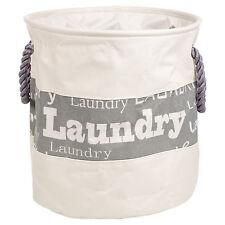 5ea607110fd 28 or 40 Litre Washing Laundry Clothes Basket Bag Bin Rope Handle Storage  Hamper