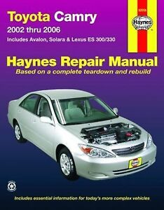 toyota camry 2002 2006 repair manual by max haynes 2009 paperback rh ebay com 2009 toyota camry hybrid repair manual 2009 toyota camry hybrid repair manual
