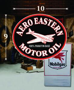"Vintage Aero Eastern Motor Oil sticker decal sign 3/"""