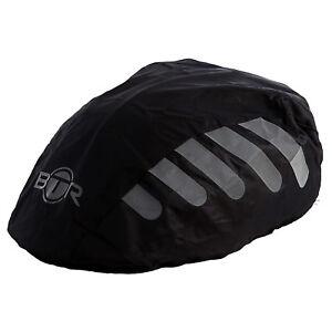 BTR High Visibilty Reflective Waterproof Bicycle Bike Helmet Cover Black