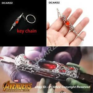 Details about The Infinity War THANOS Gamora Retractable Blade Pendant  NECKLACE Keychain SET