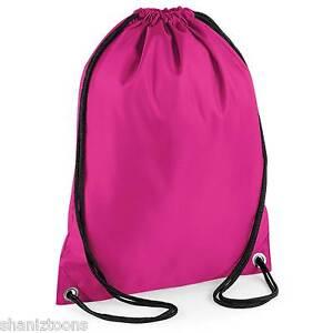 eff2b8d5fd9c x10 Fuchsia Pink Drawstring Gym Sports School PE Bag Bulk Buy Job ...