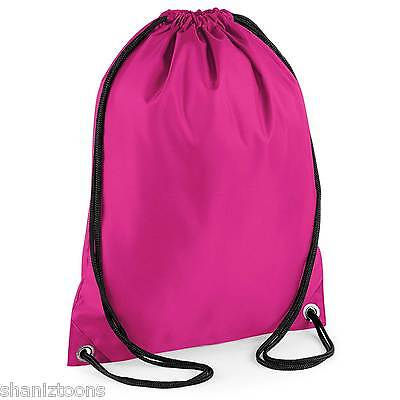 x10 Black Drawstring Gym Sports School PE Bag Bulk Buy Job Lot Kids' Clothes, Shoes & Accs. Boys' Accessories