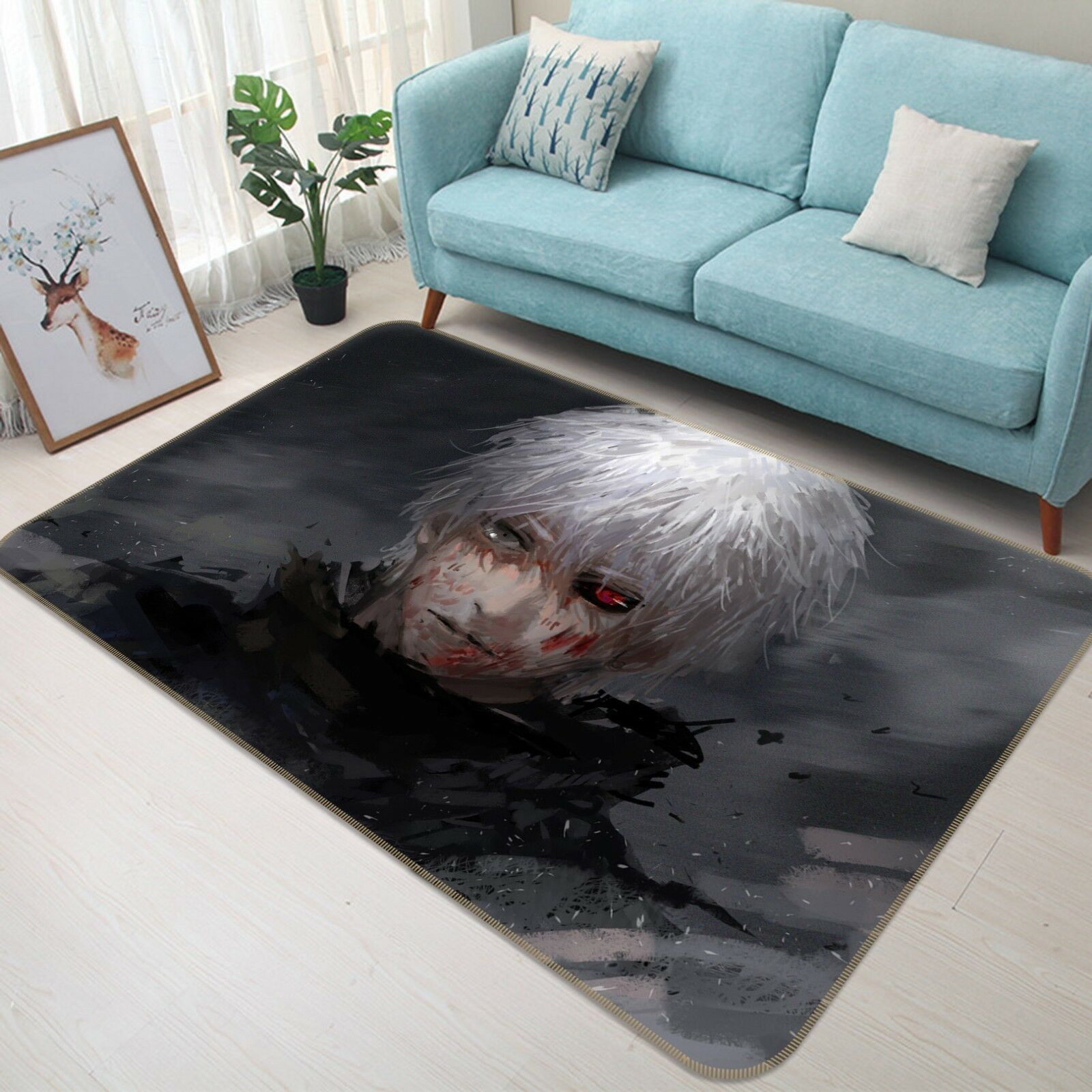 3d Tokyo Ghoul Jin Muyan 3 japón anime juego antideslizante para maletero alfombra elegante