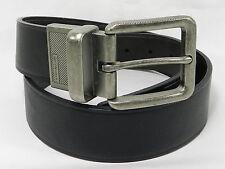 Calvin Klein Men's Reversible Jeans Big Buckle Belt, S