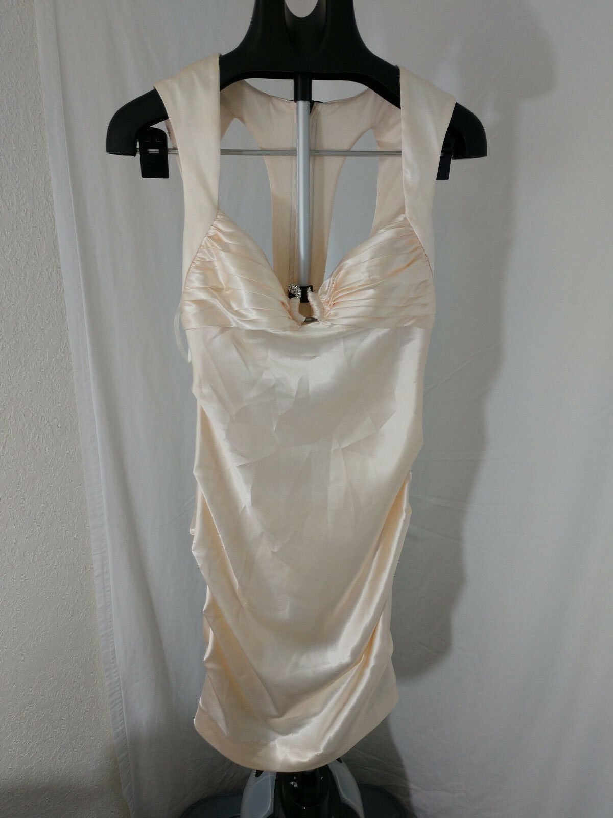 Hailey Logan by Adrianna papell Champagne Ivory Shirred Dress
