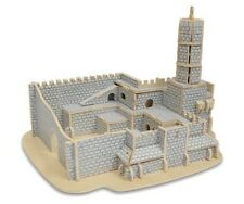 "JUDAICA 3D WOOD PUZZLE OF DAVID TOWER IN JERUSALEM 8.5"" X 7"" X 6.25"""