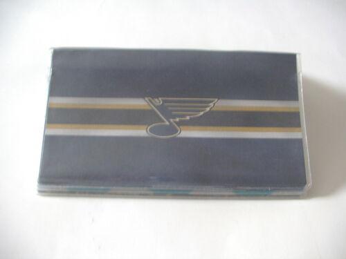 Louis Blue Hockey  Vinyl checkbook cover ST