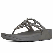 ad8eed6077cb Fitflop Bumble Crystal Pewter Flip Flop Sandal Women s sizes 6-10 NEW!