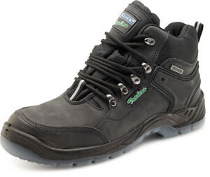 Click-Traders-Waterproof-Black-Leather-Hiker-Work-Safety-Boots-Steel-Toe-Cap-S3