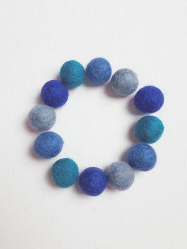 68 Pom Poms Handmade 100/% Wool 2 of each colour 1cm Wool Felt Balls Supply