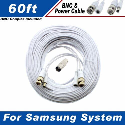 60ft Premium Cable for Samsung SDC-9443BC 1080P HD BNC Camera