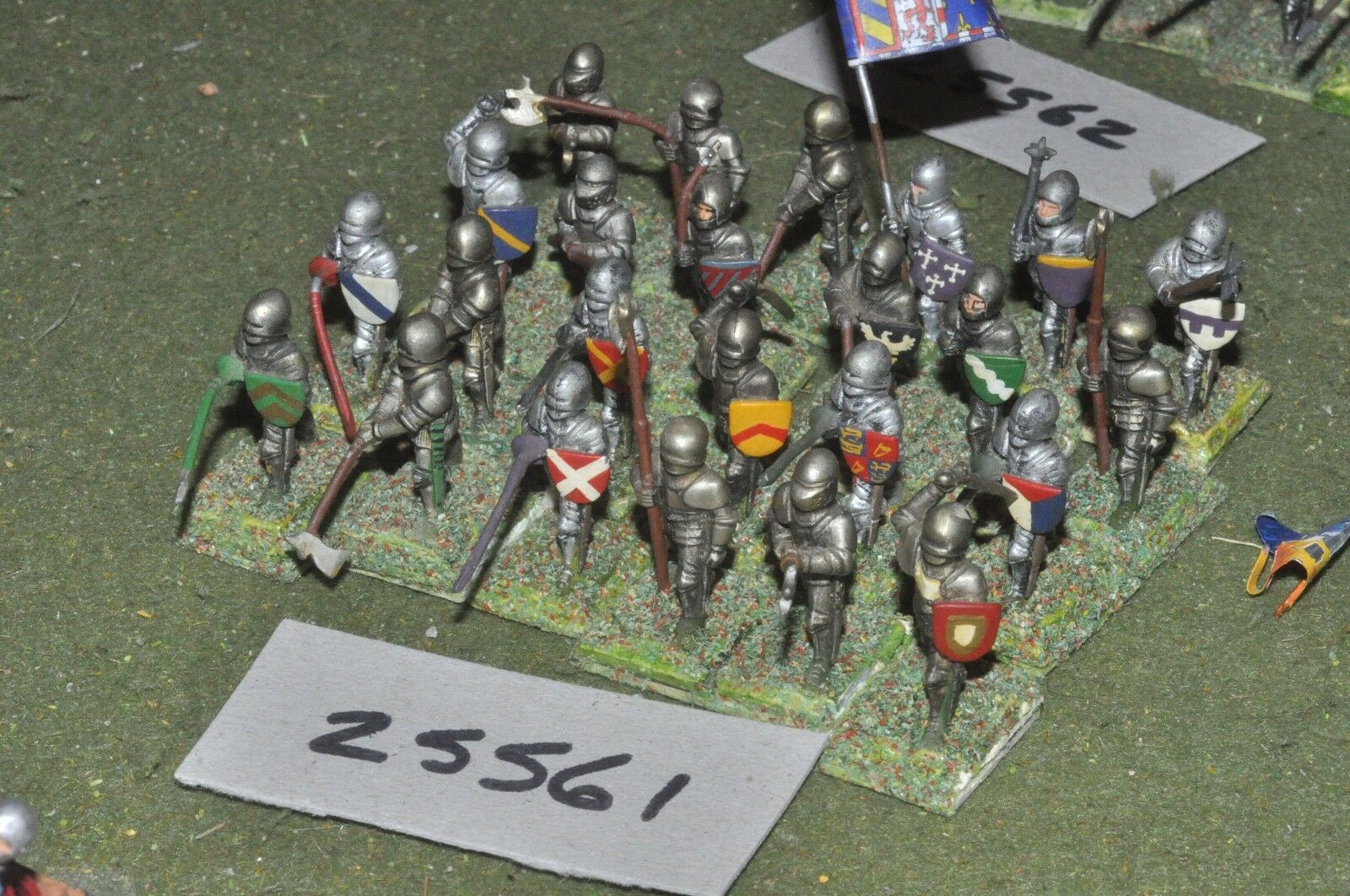 25mm medieval   english - dismounted knights 24 figures - inf (25561)