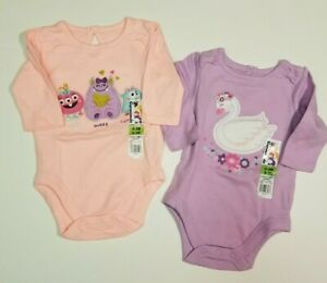 5fd4852df Garanimals Baby Girls *3 PACK* One Piece Bodysuits 0-3 Month Goblin+ ...