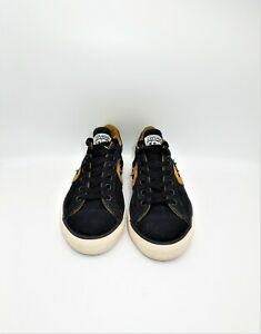 Casual Trainers Black Leather Laced