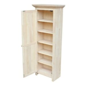 Image Is Loading Home Kitchen Bathroom Furniture Solid Parawood Storage Cabinet