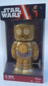 Star-Wars-C-3PO-Tin-Wind-Up-Toy-The-Force-Awakens-Schylling-BeBot-Figure-NIB