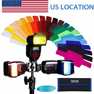 Details about Selens 20 kinds of colour Gels Filter 20pcs for FLash  Speedlite with Gels-Band