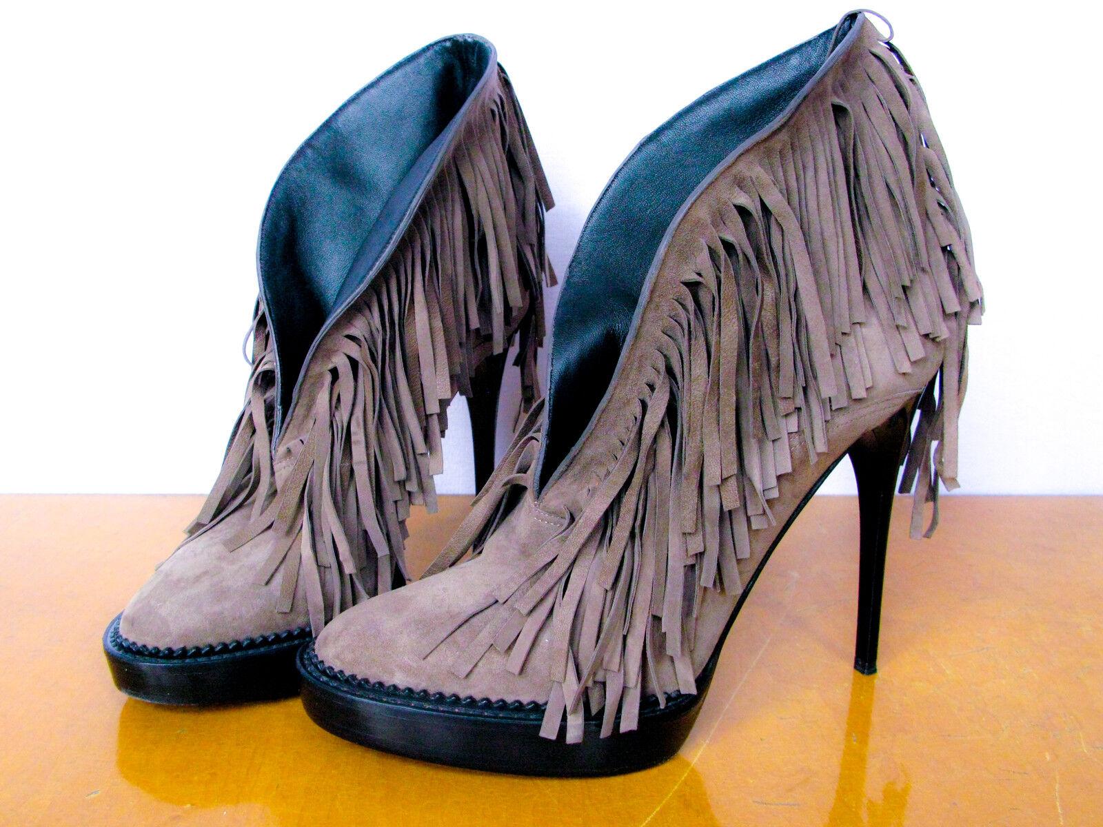 Burberry Stunning Suede Fringe Stiefel  999 Größe UK 5.5 EU 38 US 7.5