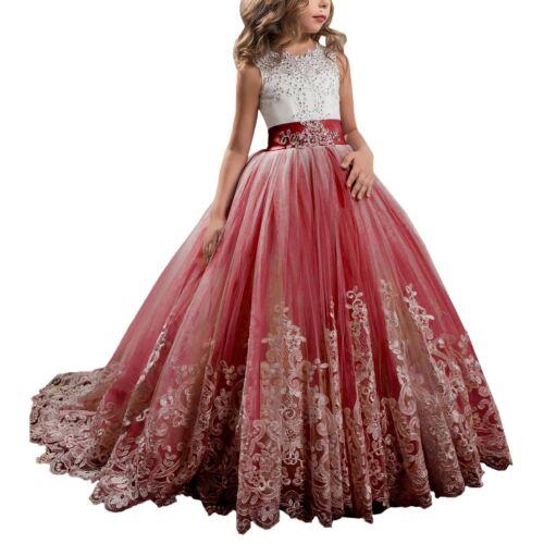 Flower Girl Dresses Princess Pageant Bridesmaid Wedding Communion Graduation