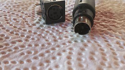 5 Pol Mini-diodenstecker Stecker + Einbaubuchse 1 Paar (2 Teile) 24902