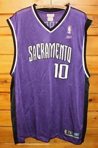 6e95b1a707fe Mike Bibby  10 Sacramento Kings NBA Reebok Purple Jersey Mens Size ...