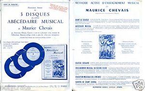Publicité Maurice Chevais méthode d'enseignement musical abécédaire JrnnZivg-08130114-817995577