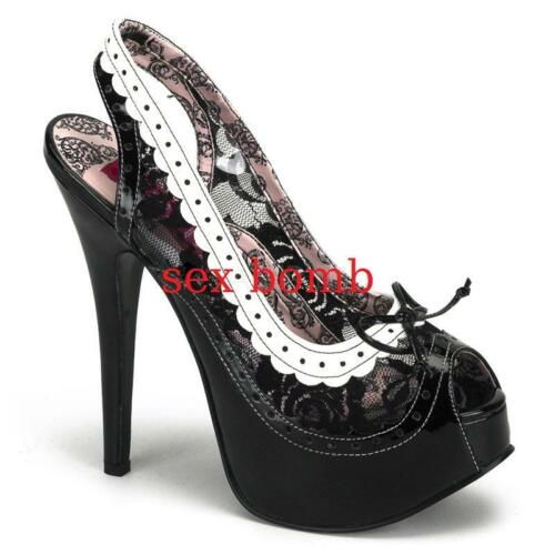 Scarpe Spuntate bianco Sexy Glamour Tacco Plateau 38 Nero 14 Invisibile N 5 CRUdqd5xwS
