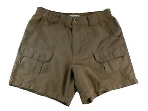 Columbia-Womens-Size-8-MED-Cargo-Bermuda-Shorts-Brown-Nylon
